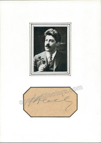 Kreisler, Fritz - Signature & Photo - TaminoAutographs.com