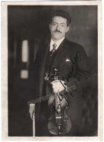 Kreisler, Fritz - Signed photo