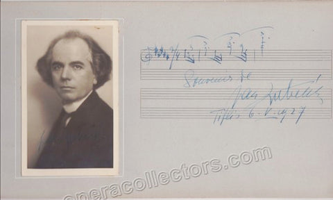 Kubelik, Jan - Signed Photo Postcard and Autograph Music Quote Signed