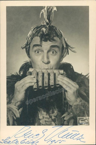 Kunz, Erich - Signed Photo as Papageno 1955