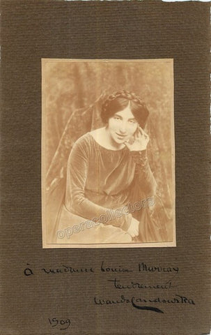 Landowska, Wanda - Signed photo - Tamino Autographs