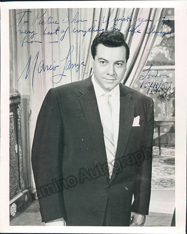 Lanza, Mario - Signed photo