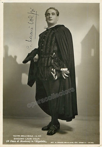 Lauri-Volpi, Giacomo - Signed photo as the Duke in Rigoletto - TaminoAutographs.com