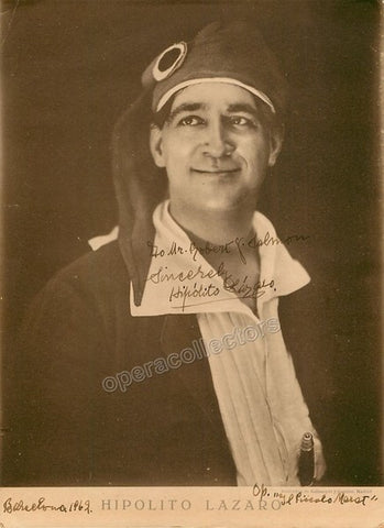 Lazaro, Hipolito - Signed photo in Il Piccolo Marat