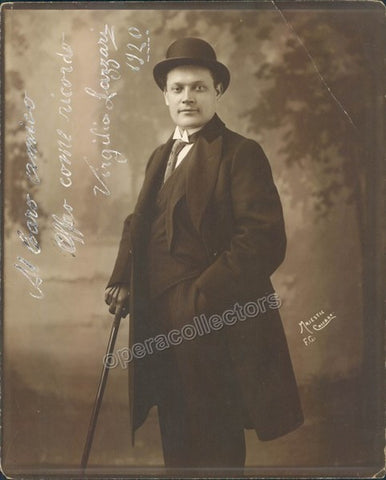 Lazzari, Virgilio - Signed Photo 1920 - TaminoAutographs.com