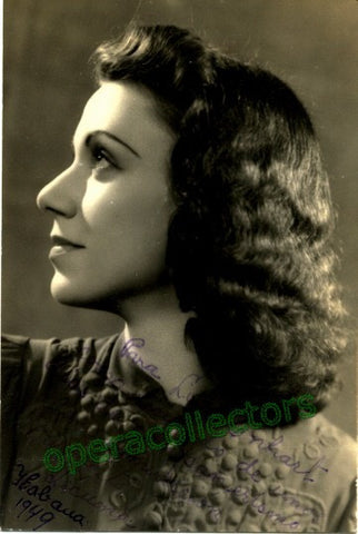Lecuona, Margarita - Signed Photo - TaminoAutographs.com