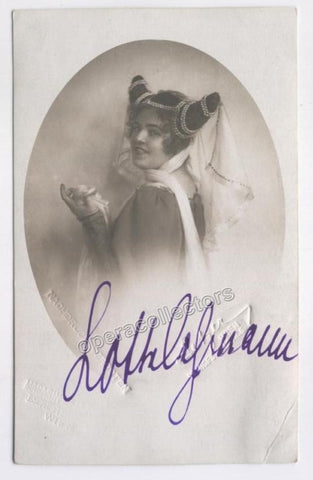 Lehmann, Lotte - Signed photo postcard in The Merry Wives of Windsor - TaminoAutographs.com