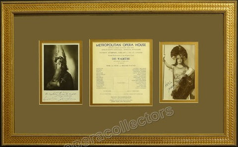 Leider, Frida - Schorr, Friedrich - Signed Photos and Program - Die Walkure 1933 - TaminoAutographs.com