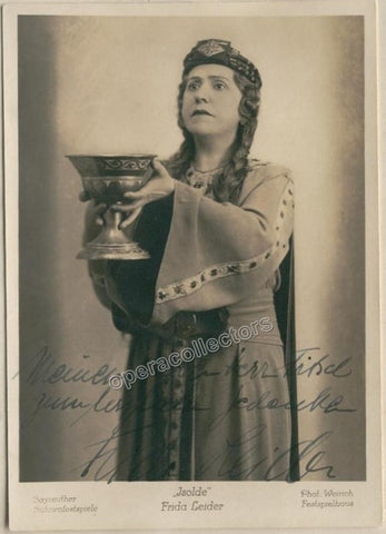 Leider, Frida - Signed photo as Isolde, 1937 - TaminoAutographs.com