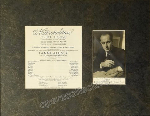 Leinsdorf, Erich - Signed Photo and Program
