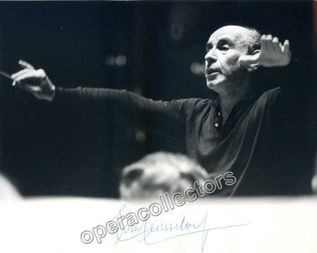Leinsdorf, Erich - Signed Photo Shown Conducting - Tamino Autographs
