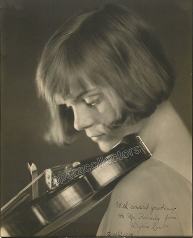 Lent, Sylvia - Signed photo