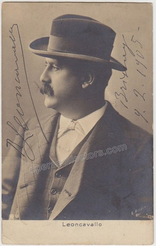 Leoncavallo, Ruggero - Signed photo postcard - TaminoAutographs.com