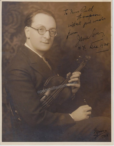 Levey, James - Signed photo with violin - TaminoAutographs.com