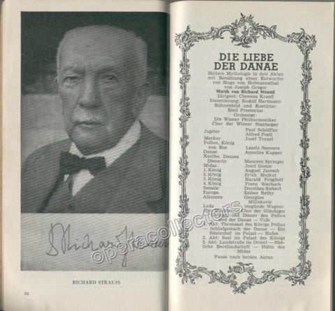 Liebe Der Danae World Premiere Program 1952