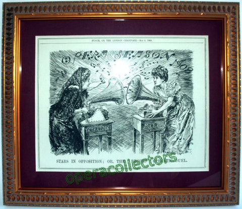 Melba versus Tetrazzini - Cartoon - Year 1908 - TaminoAutographs.com