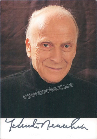 Menuhin, Yehudi - Signed Photo - TaminoAutographs.com