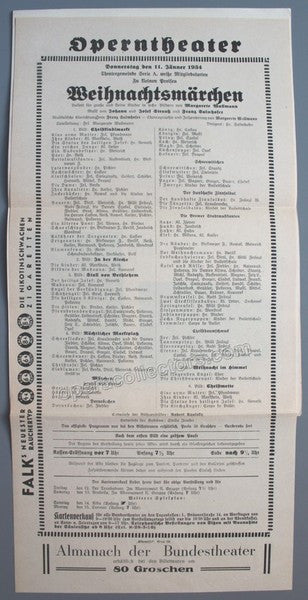 Salmhofer, Franz - Concert Program Vienna 1937