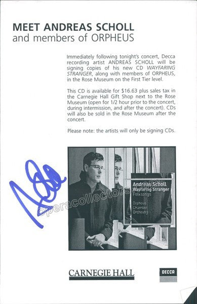 Scholl, Andreas - Signed Program Ad