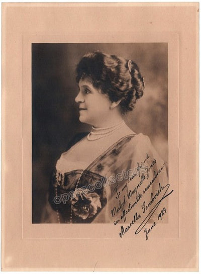 Sembrich, Marcella - Large Signed Photo 1924