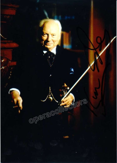 Stern, Isaac - Signed photo with violin