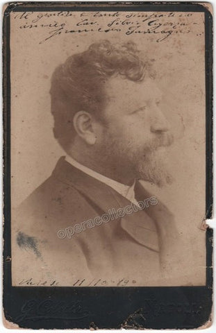 Tamagno, Francesco - Signed Cabinet Photo, 1889 - Tamino Autographs