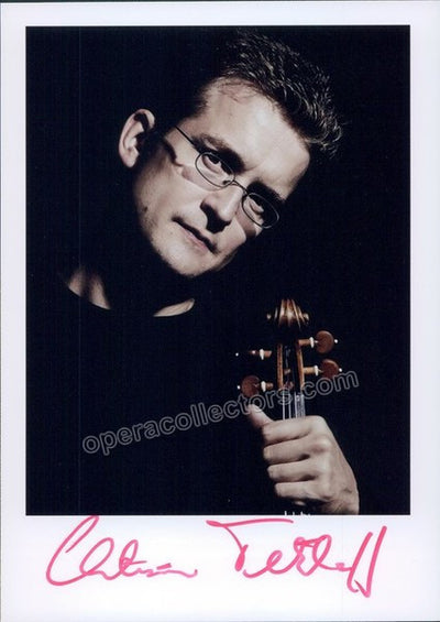 Tetzlaff, Christian - Signed photo with violin