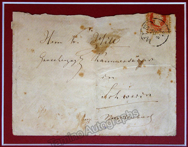 Wagner, Richard - Handwritten Envelope and Vintage Cabinet Photo - Tamino Autographs  - 2