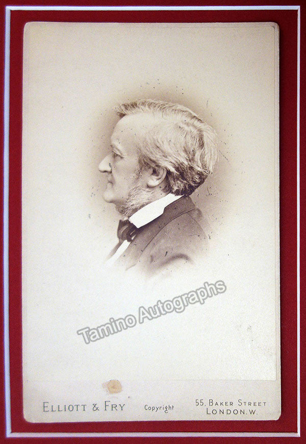 Wagner, Richard - Handwritten Envelope and Vintage Cabinet Photo - Tamino Autographs  - 3