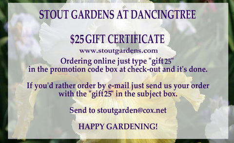 *GIFT CERTIFICATE $25