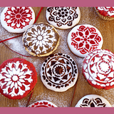 DIY Cake Lace Decoration Mould - Set Of 8