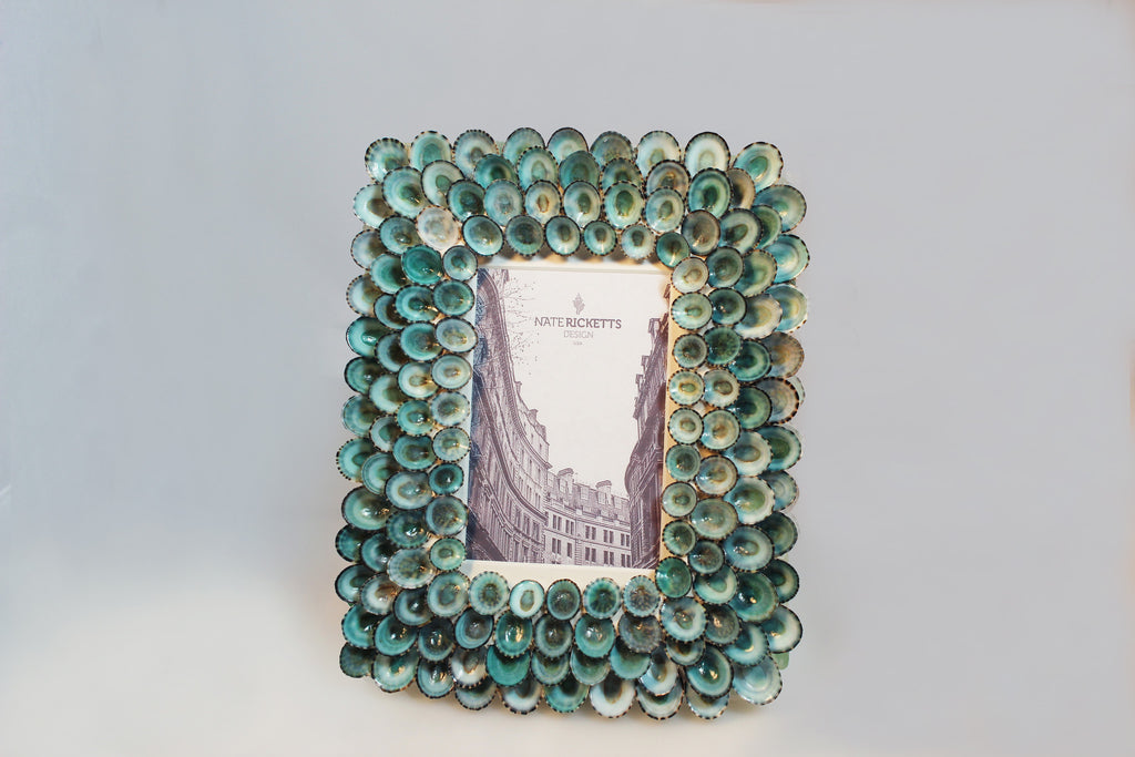 Blue Limpet Shell Picture Frame
