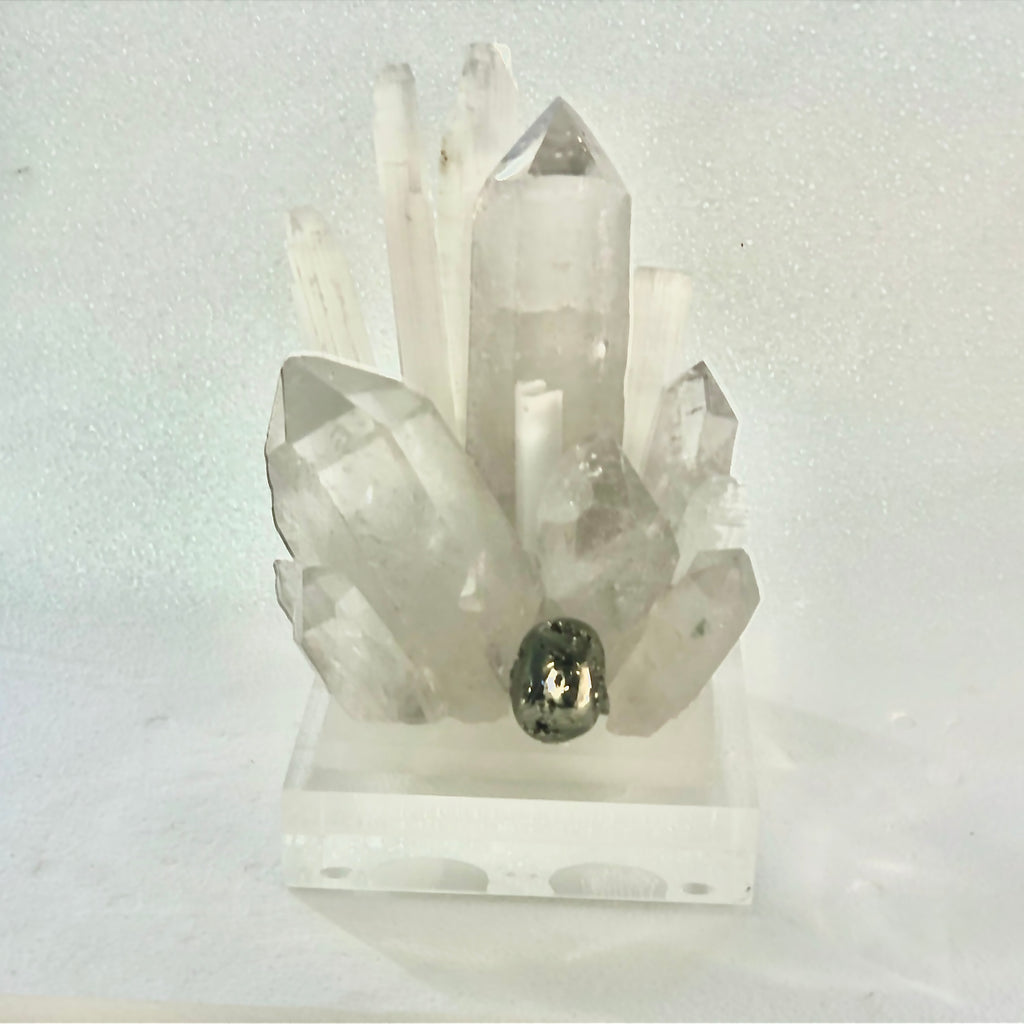 Quartz Crystal Pedestal on Acrylic Base