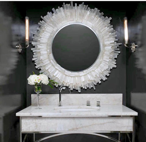 Selenite Starburst Mirror W