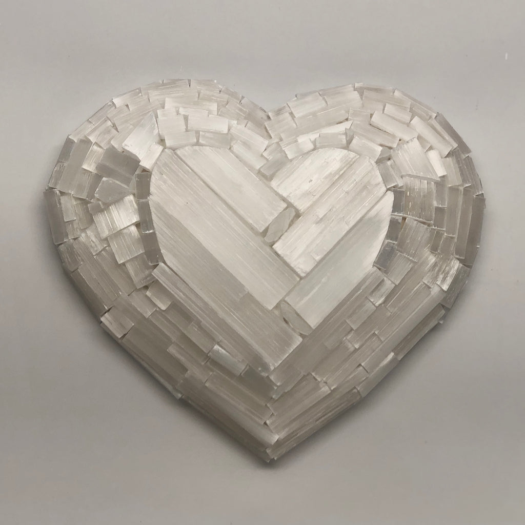 Selenite Heart W