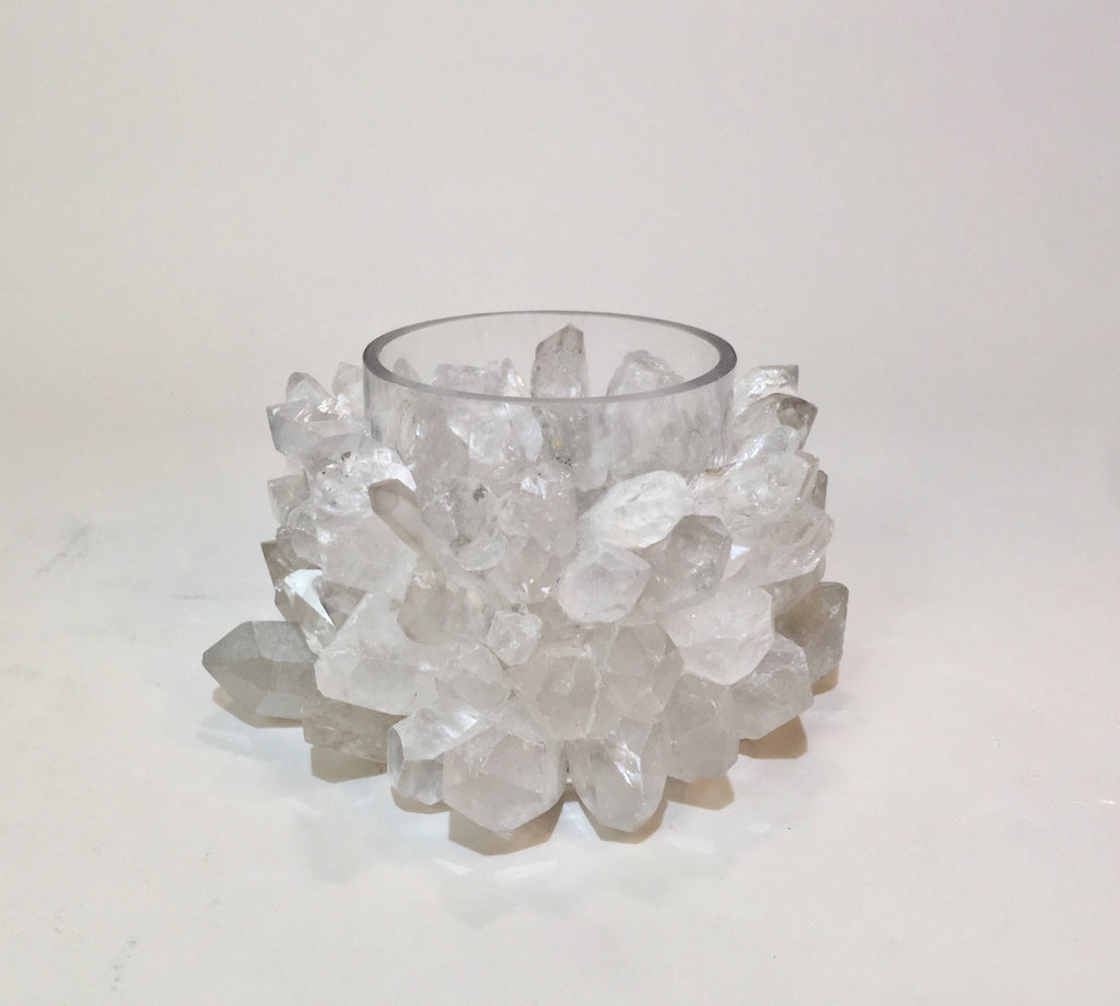 Quartz Point Votive Candle Holder