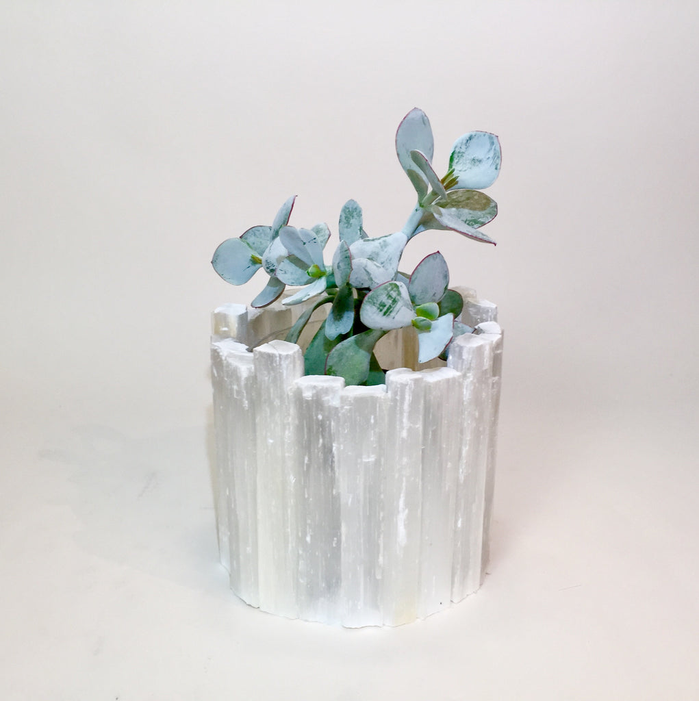 Selenite Planter Pot