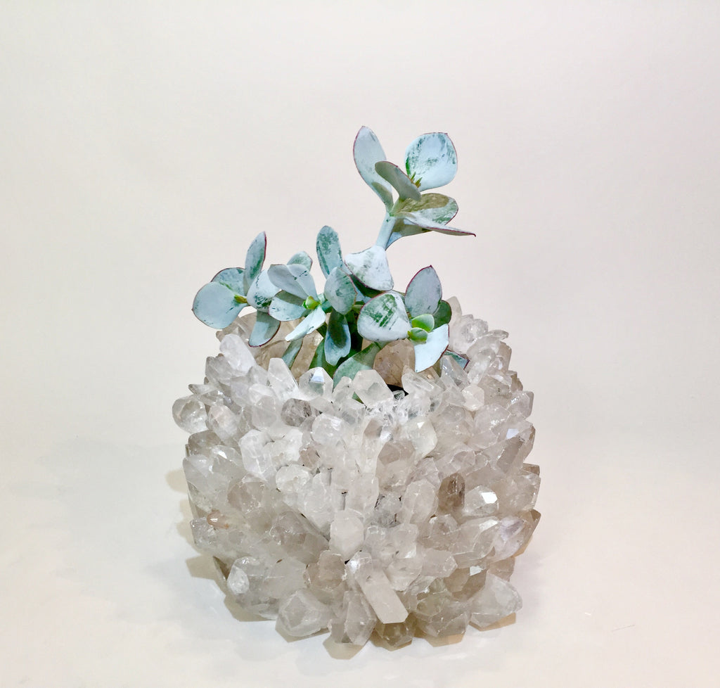 Quartz Point Planter Pot