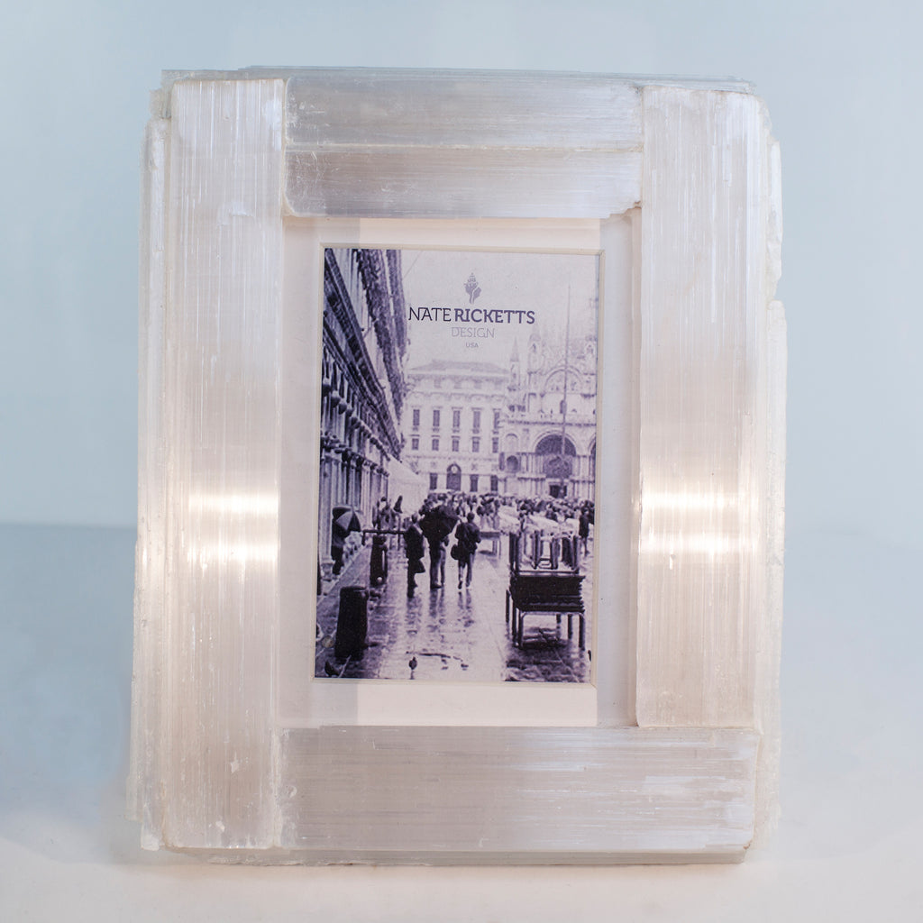 Selenite Crystal Photo Frame