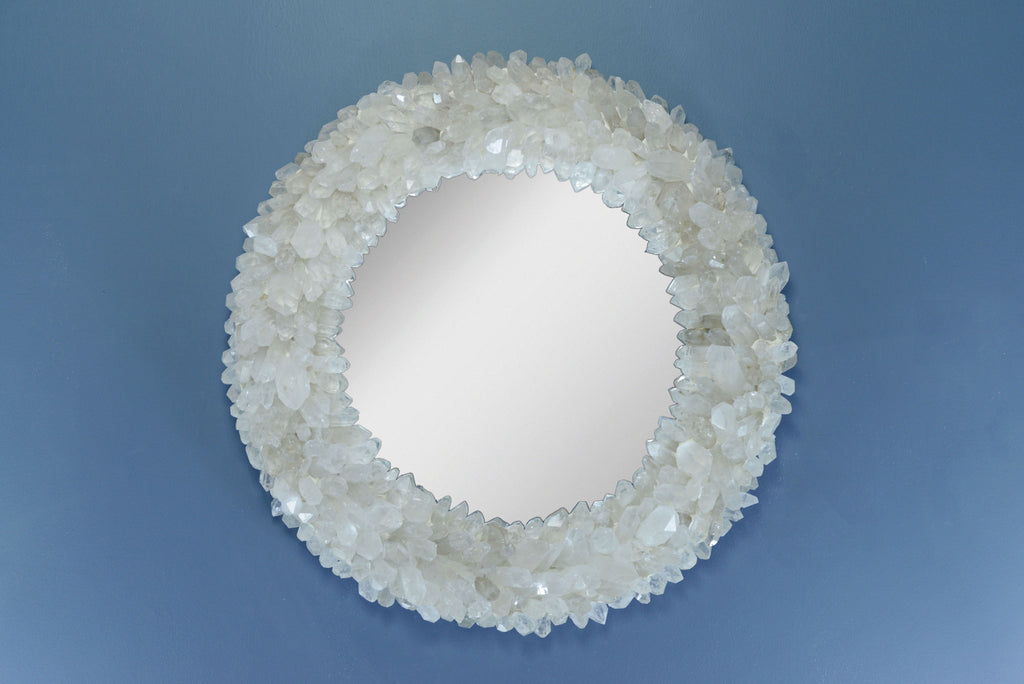 Quartz Point Round Mirror