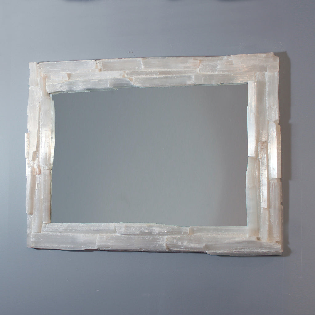Selenite Crystal Mirror