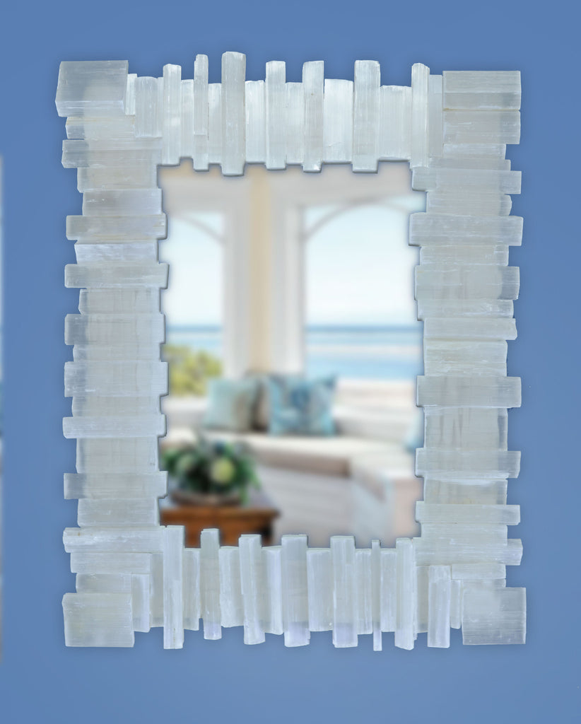 Selenite Deco Rectangle Mirror