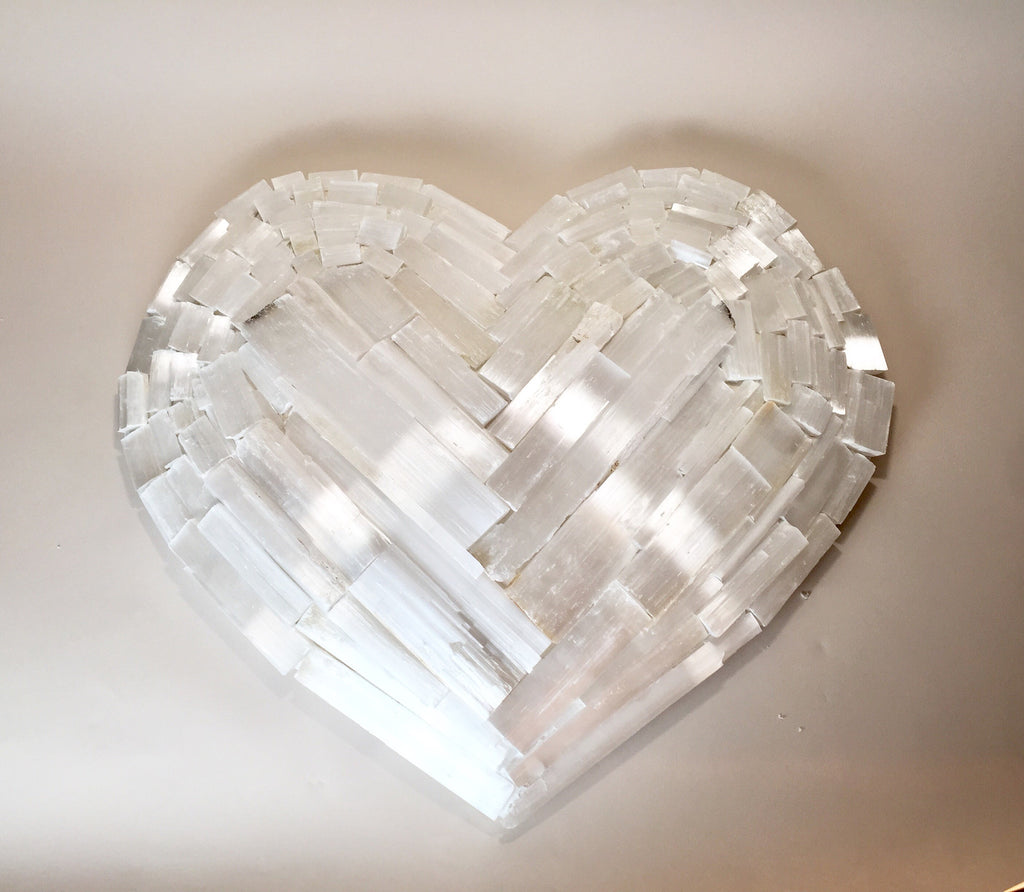 Selenite Heart D