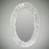 Selenite Oval Mirror