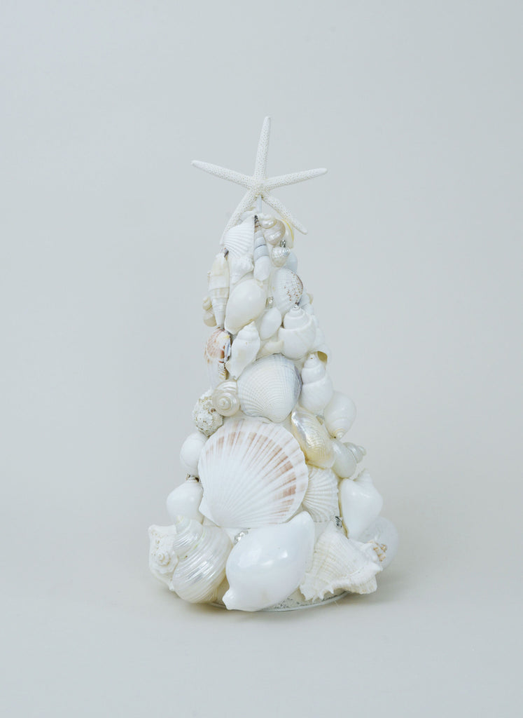 World Mix White Seashell Tree with Seastar