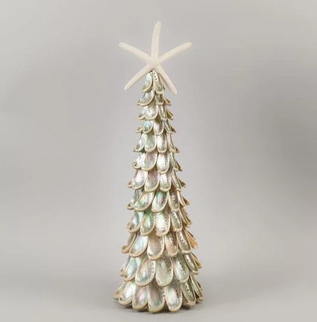 Silver Abalone Tree with Seastar