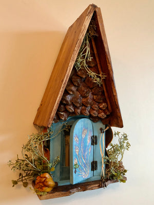 Fairy Door with Hand Carved Design