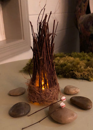 Fairy Campfire Scene Handcrafted by Olive