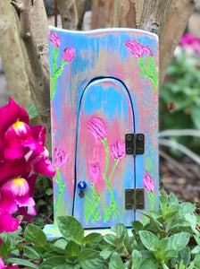 Fairy Door with Floral Carvings by Olive