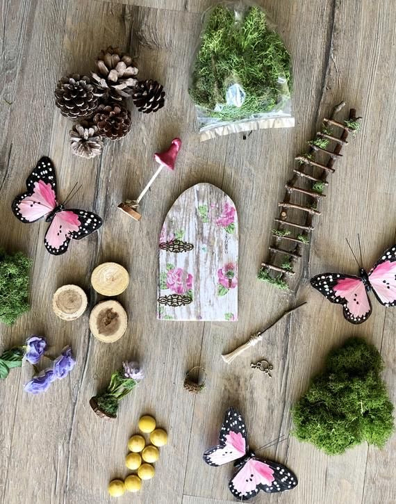 Fairy Garden Kit by Olive ~ Beautifully Wrapped~ Great for Gift Giving!